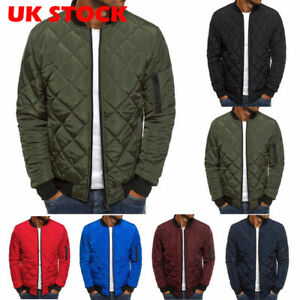 Men-039-s-Ultralight-Jacket-Puffer-Bubble-Down-Coat-Bomber-Quilted-Padded-Parka-UK