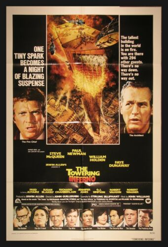 """THE TOWERING INFERNO"" Original 1974 Movie Poster One Sheet"