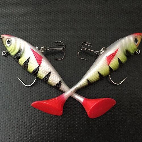 Funky weichen Bleifisch 11cm 19,4g T-Form Schwanz Fischköder lockt mit Haken
