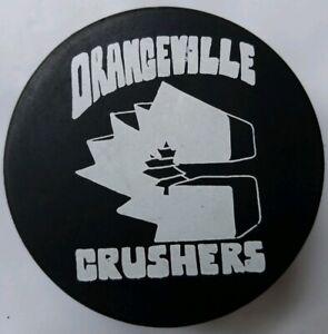 ORANGEVILLE-CRUSHERS-VINTAGE-VICEROY-MFG-OFFICIAL-GAME-PUCK-RARE-BURGER-KING-AD