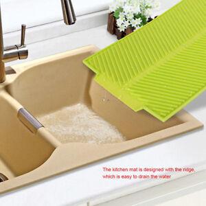 Silicone Plat Sechage Tapis De Cuisine Vaisselle Pad Lavage Lavabo