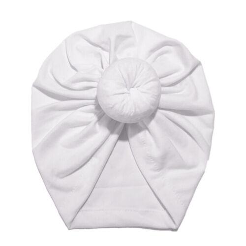 UK Newborn Baby Bow Knot Flower Turban Head Wrap Girl Boy India Cap Beanie Hat
