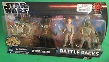 "Star Wars BESPIN BATTLE PACK Darth Vader BOBA FETT Luke Skywalker 3.75"" figures"