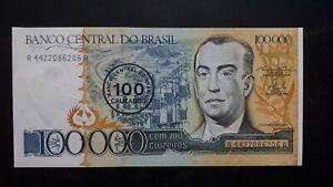 Banconota Brasile 100000 Cruzeiros Khhsyid2-07212050-627680753