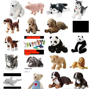 IKEA-PELUCHE-PANDA-SQUALO-CANE-ANIMALI-Natalizi-per-Bambini-Giocattolo-Peluche-Peluche
