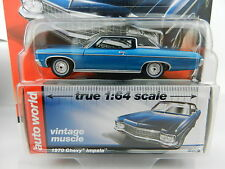 2017 AUTO WORLD 1:64 *PREMIUM 1A* BLUE 1970 Chevrolet Impala *NIP*