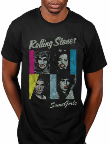 Official Rolling Stones Some Girls T-Shirt Forty Licks Hot Rocks 1 Steel Wheels