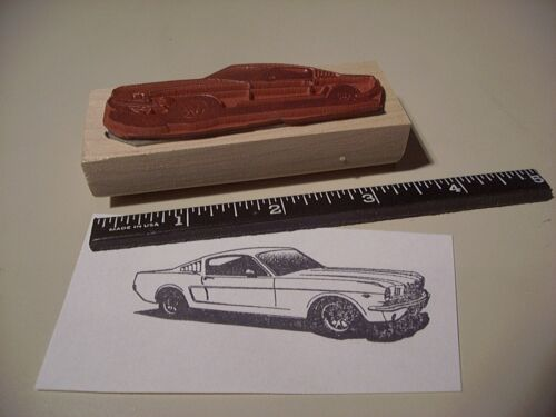 1966 Shelby 350 1965 Ford Mustang GT Fastback Car Rubber Stamp