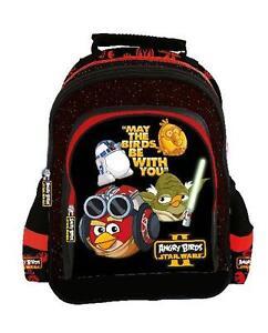 1e41c0ca5c0e0 ANGRY BIRDS STAR WARS II School BACKPACK School Bag Rucksack YODA ...