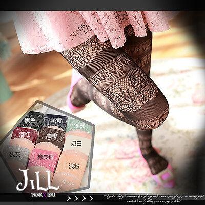japan lolita liz lisa forest kei secret garden floral engraved pantyhose【J1B128】