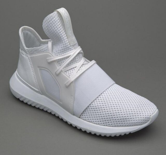 new arrival 67adc e63ab Adidas Womens Girls Tubular Defiant White Trainers Shoes BB5116 UK 3.5 to 9