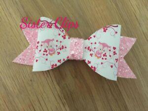 Pink Owl Hair Bow Clip