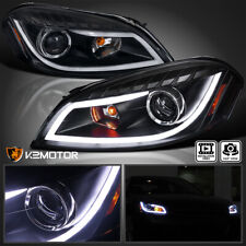 For 2006 2013 Chevy Impala Black Led Strip Projector Headlights Signal Lamp Pair Fits 2006 Impala