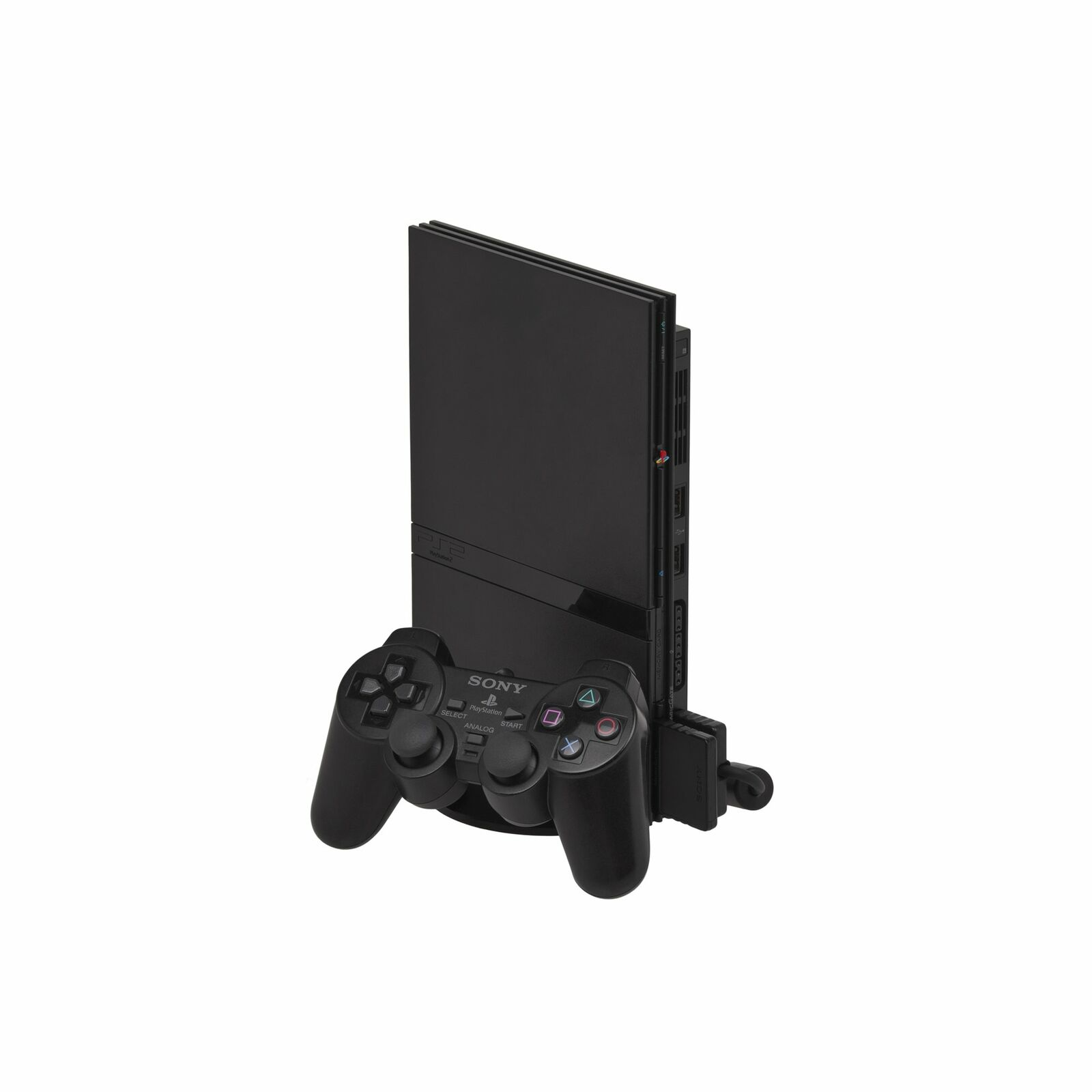 Sony PlayStation 2 PS2 Slim Console Black with Compatible Controller