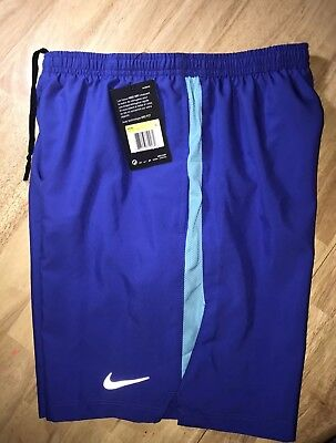 """Nike Mens Dri-Fit 5/"""" Challenger Running Shorts w//Liner Blue New"""