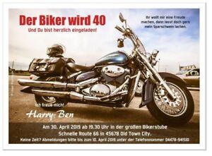 Einladungskarten Zum Geburtstag Motorrad Krad Bike Maschine Ofen