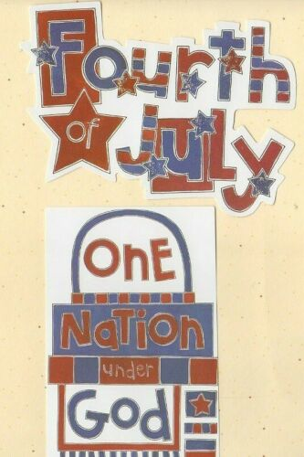 "/"" FOURTH OF JULY /"" SEASON/'S DIE CUT SET MY MINDS EYE  PATRIOTIC USA SUMMER 2 PC"