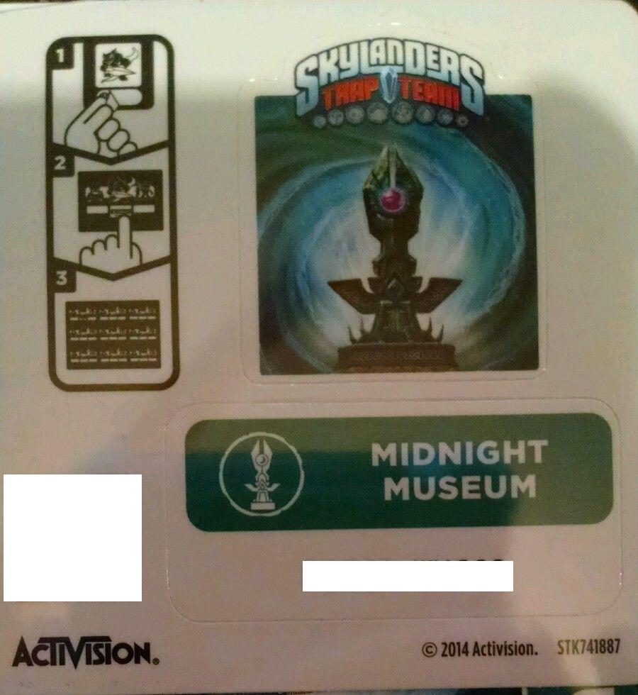 Midnight Museum Skylanders Trap Team Sticker   Code Only