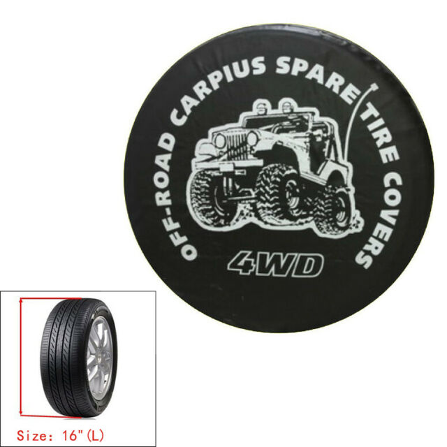 """4WD Spare Wheel Storage Bag Tire Cover Pouch Soft Case Protector/16"""" For All Car"""