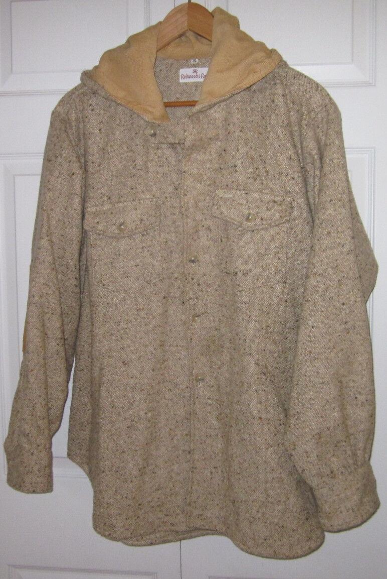 Vintage rojowood  & Ross de Color avena de lana tejida Sportsman Abrigo L  Garantía 100% de ajuste