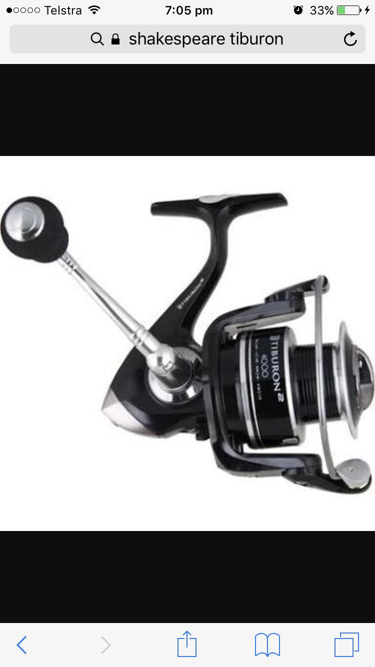 Shakespeare Tiburon 4000 Spinning Fishing Spin Reel Reel Reel + Warranty + Free Postage 4967fc