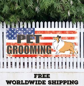 PET GROOMING Banner Vinyl Mesh Banner Sign Many Sizes Cat Dog Ven Kennel