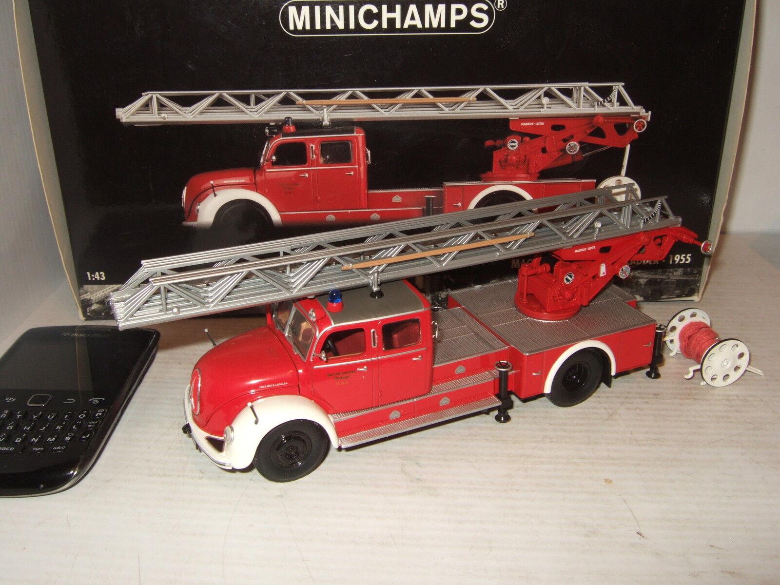 Minichamps 140071 Raro 1955 Magirus S 6500 Aerial Ladder en 1 43 Escala.