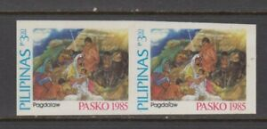 Philippine-Stamps-1985-Christmas-P3-00-Pagdalaw-Proof-Imperforate-pair-MNH