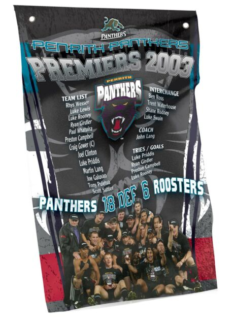 PREMIERSHIP NRL PENRITH PANTHERS Cape Wall Flag Banner Man Cave Pool Room