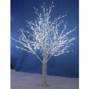 New White Snowy Twig Tree White LED Lights Xmas Indoor Outdoor ...