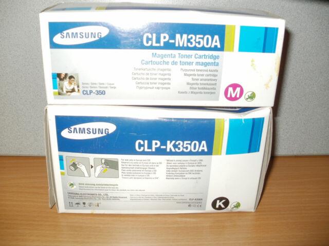 1x Samsung CLP-K350A +1x Samsung CLP-M350A Toner für CLP-350 Series OVP mit RG