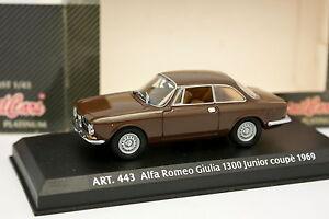 Detail-Cars-1-43-Alfa-Romeo-Giulia-Bertone-1300-Junior-Coupe-1969-Marron