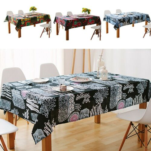 Rectangle Tablecloth Kitchen Dining Table Cover Linen And Cotton Table Cloth