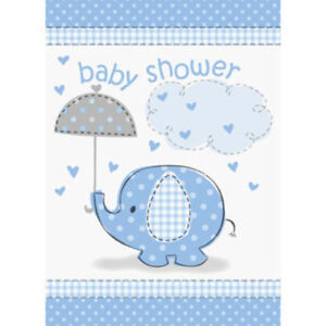 Umbrella elephant blue boy baby shower party invitations 8 ct image is loading umbrella elephant blue boy baby shower party invitations filmwisefo