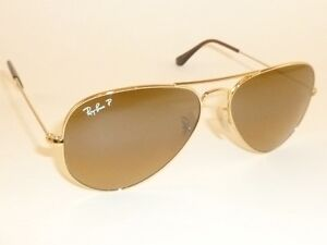 bd6107f26ac New RAY BAN Aviator Sunglasses Gold RB 3025 001 M2 Polarized Brown ...