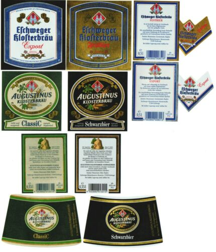 4 alte Bieretiketten Eschwege Hessen e341b