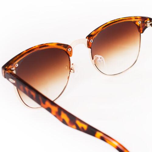 Sunglasses Brown Tortoise Retro Gradient Lenses Tort Animal Print Mens Womens