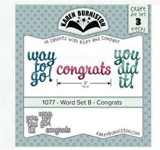KB Riley Karen Burniston Die Set ~ HAPPY BIRTHDAY  Phrase  3D Card Making ~1030