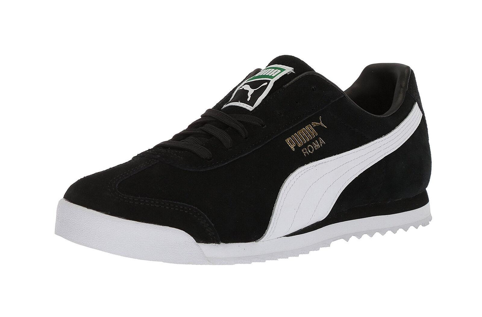 puma weiße roma - schwarz - weiße puma wildleder mode lace up turnschuhe sportliche erwachsene männer. 7292e7