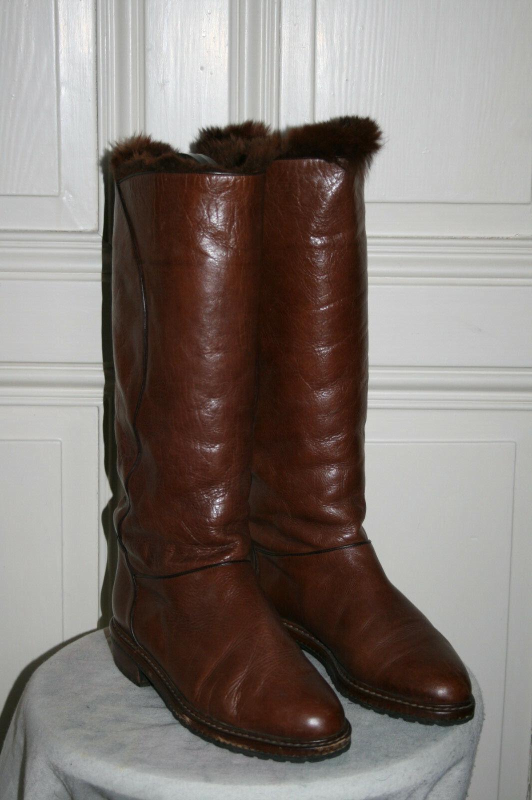 EMMEUNO Winter Leder Stiefel mit Lammfellfutter guter Zustand  in Gr. 39