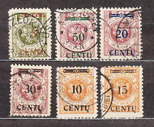 Memel-Occupation-Lithuanian-Table-Mail-Yvert-150-5-Or