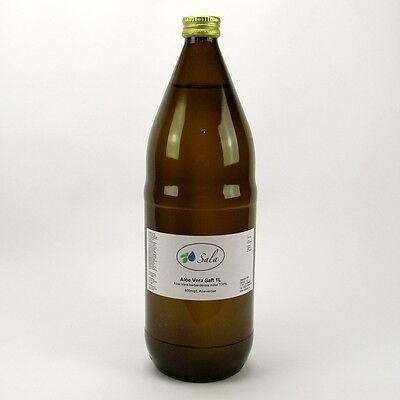 (4,70/L) 12 x Aloe Vera Saft Direktsaft IASC 1 L Glasfl. 600mg/L Aloverose