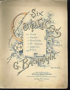 G-Bachmann-Six-Caprices-No-6-Fierte-alte-uebergrosse-Noten