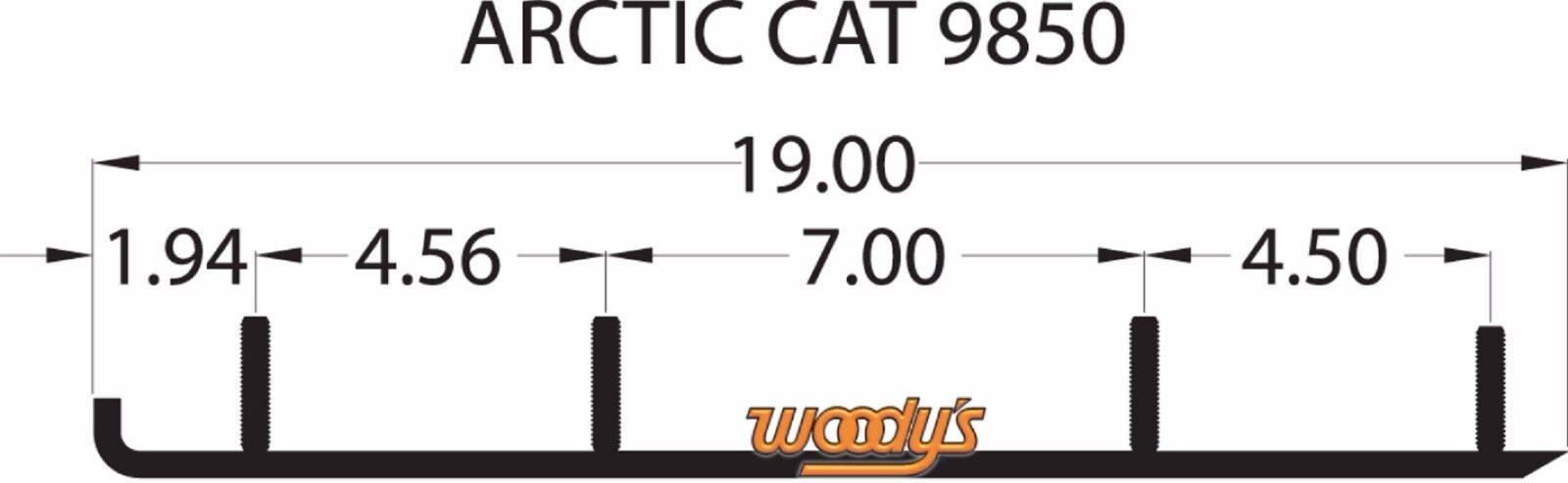"WOODYS DOOLY 6/"" WEAR BARS CARBIDE RUNNERS PAIR FOR ARCTIC CAT 02-17 /& YAMAHA 16"
