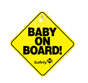 BABY ON BOARD Safety Warning Car Sign Suckered Window Attachment