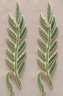 2 Hand-Beaded, Bullion Appliques. Stems, Branches