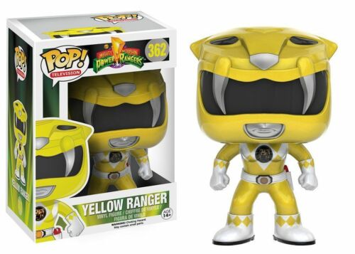"YELLOW RANGER 3.75/"" POP TV VINYL FIGURE FUNKO MIGHTY MORPHIN POWER RANGERS"
