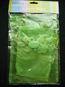 3 x voile drawstring easter gift bags easter favour bags easter image is loading 3 x voile drawstring easter gift bags easter negle Choice Image