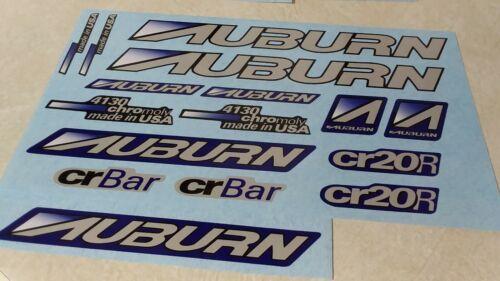 Auburn BMX decals mid school BMX Vintage Bicycle Parts Dg Gt Hutch