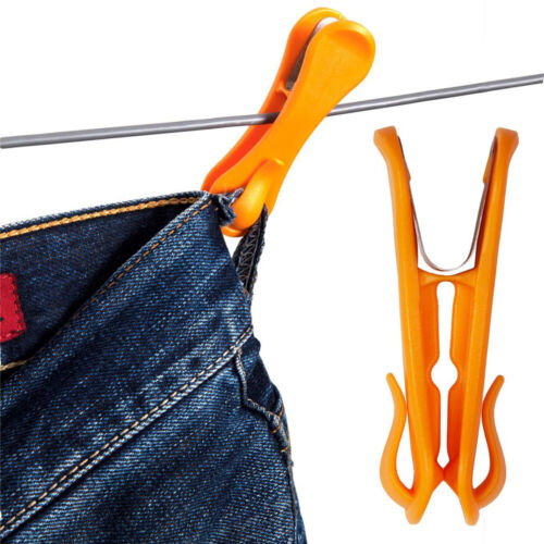 Orange 10 Pack with hooks-Made in Australia NEW Hegs Pegs